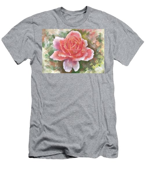 Just Joey Rose From The Acrylic Painting Men's T-Shirt (Athletic Fit)