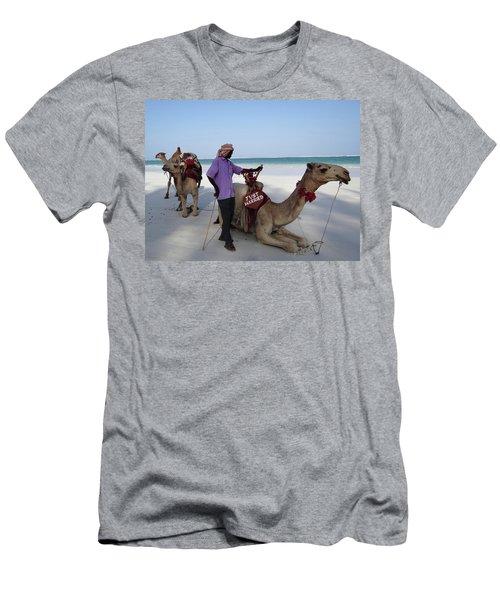 Just Married Camels Kenya Beach 2 Men's T-Shirt (Slim Fit) by Exploramum Exploramum