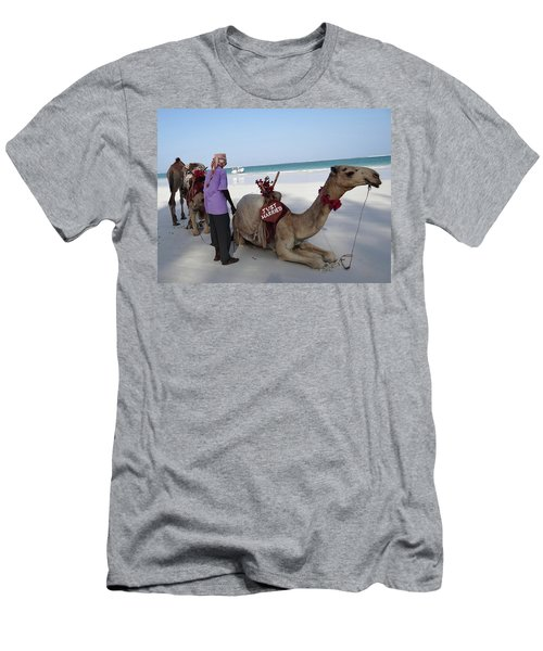Just Married Camels Kenya Beach Men's T-Shirt (Athletic Fit)