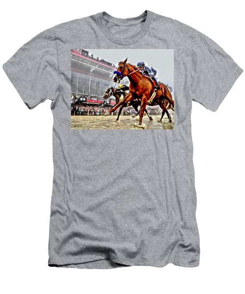 Justify Wins Preakness Men's T-Shirt (Athletic Fit)