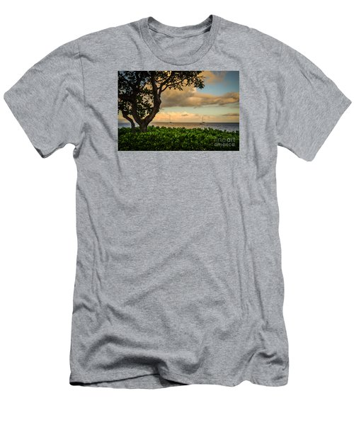 Ka'anapali Plumeria Tree Men's T-Shirt (Athletic Fit)