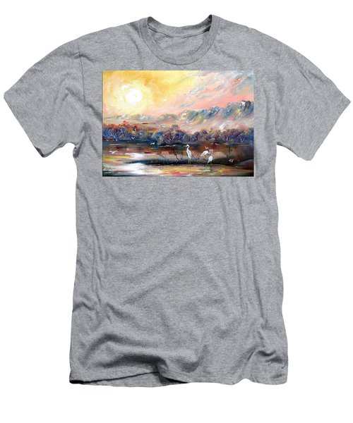 Men's T-Shirt (Athletic Fit) featuring the painting Kakadu by Ryn Shell