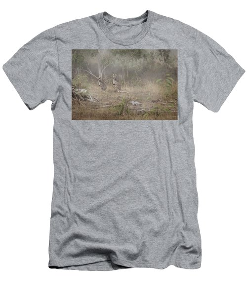 Men's T-Shirt (Athletic Fit) featuring the photograph Kangaroos In The Mist by Az Jackson