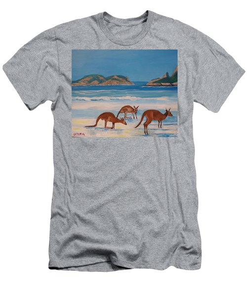 Kangaroos On The Beach Men's T-Shirt (Athletic Fit)