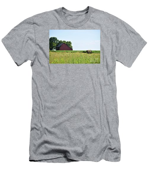 Kansas Barn Men's T-Shirt (Slim Fit) by Mark McReynolds