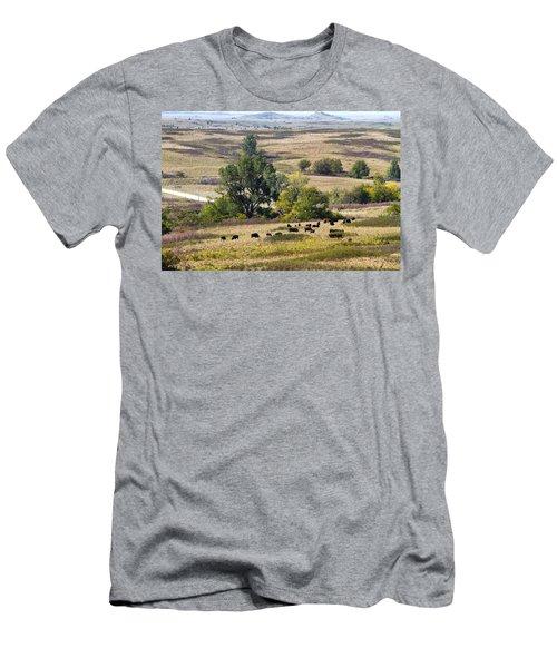 Kansas Plains  Men's T-Shirt (Slim Fit) by Betty Pauwels