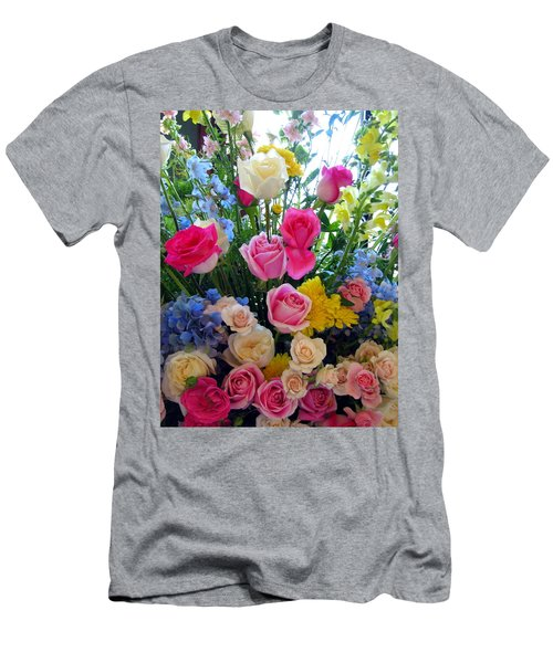 Kate's Flowers Men's T-Shirt (Slim Fit) by Carla Parris