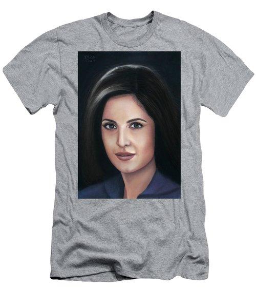Katrina Kaif - Pastel Men's T-Shirt (Slim Fit) by Vishvesh Tadsare