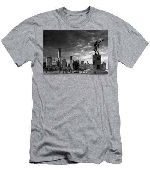 Men's T-Shirt (Slim Fit) featuring the photograph Katyn New World Trade Center In New York by Ranjay Mitra