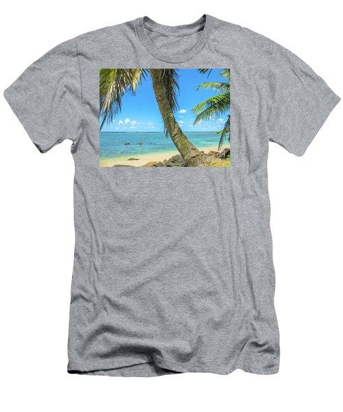Kauai Tropical Beach Men's T-Shirt (Athletic Fit)