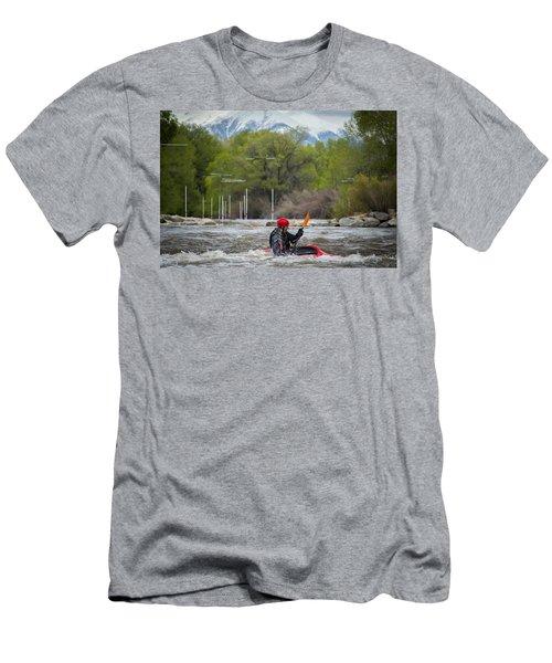 Kayaker On The Arkansas Men's T-Shirt (Athletic Fit)