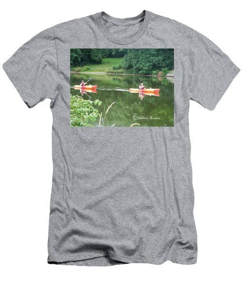 Kayaks On The River Men's T-Shirt (Athletic Fit)