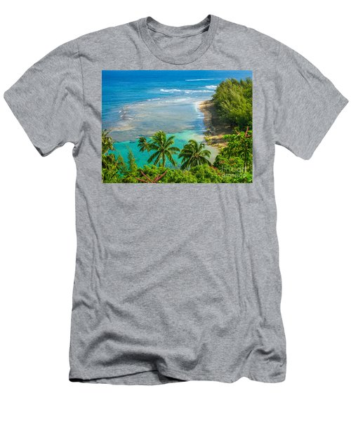 Kee Beach Kauai Men's T-Shirt (Athletic Fit)