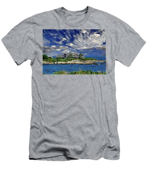 Kennebunkport, Maine - Walker's Point Men's T-Shirt (Slim Fit) by Russ Harris