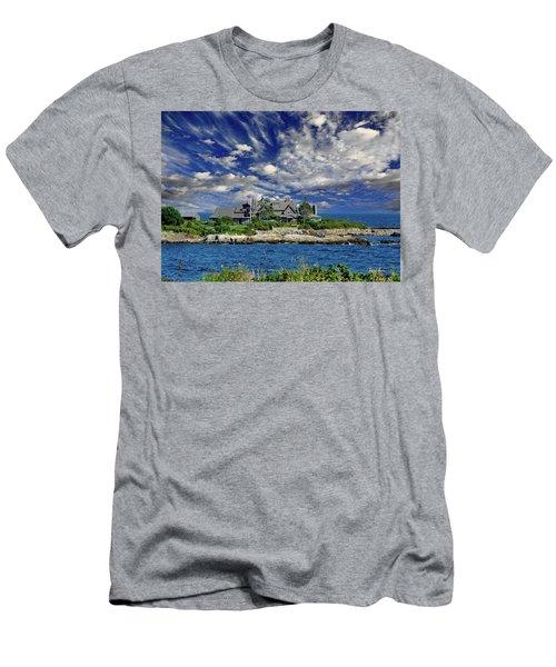 Kennebunkport, Maine - Walker's Point Men's T-Shirt (Slim Fit) by Russ Harris