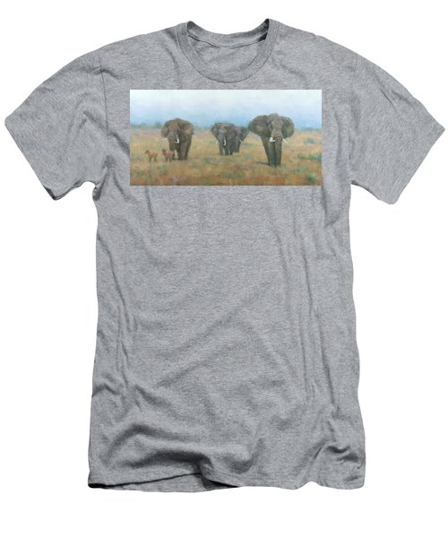 Kenyan Elephants Men's T-Shirt (Athletic Fit)