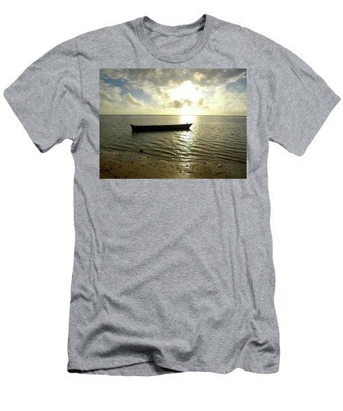 Kenyan Wooden Dhow At Sunrise Men's T-Shirt (Athletic Fit)
