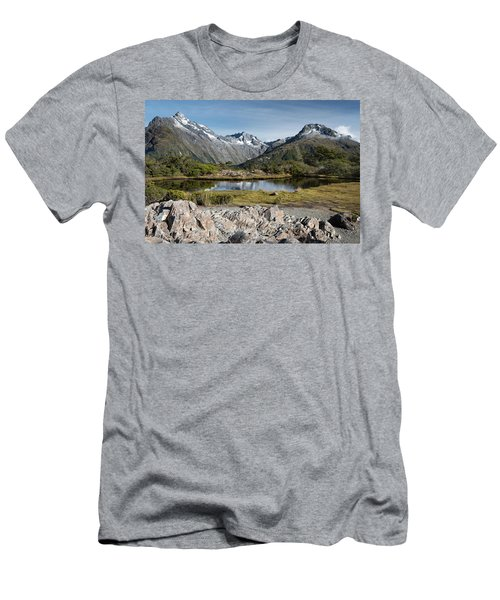Men's T-Shirt (Athletic Fit) featuring the photograph Key Summit View by Gary Eason