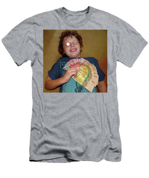 Kid With Money Men's T-Shirt (Slim Fit) by Exploramum Exploramum