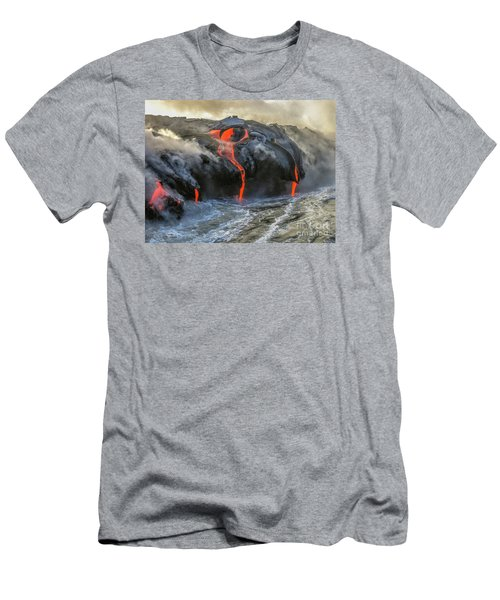 Kilauea Volcano Hawaii Men's T-Shirt (Athletic Fit)