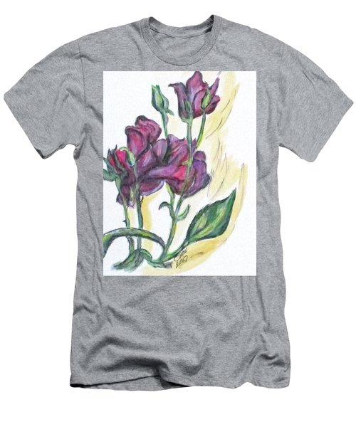 Kimberly's Spring Flower Men's T-Shirt (Slim Fit)
