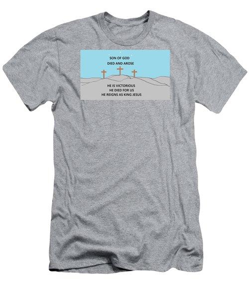 King Jesus Men's T-Shirt (Slim Fit) by Linda Velasquez