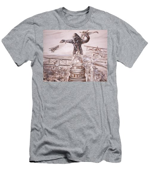 King Kong - Atop The Empire State Building Men's T-Shirt (Athletic Fit)