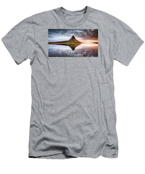 Kirkjafell Mountain Sunrise Men's T-Shirt (Athletic Fit)