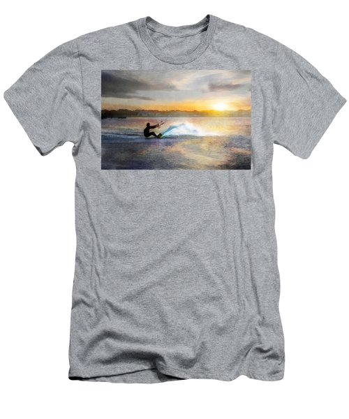 Kite Boarding At Sunset Men's T-Shirt (Athletic Fit)