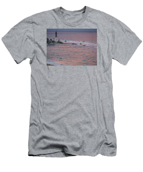 Kiteboarding At Hillsboro Men's T-Shirt (Athletic Fit)