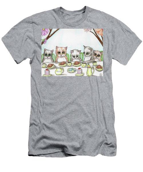 Kitten Tea Party Men's T-Shirt (Athletic Fit)