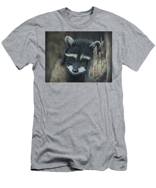 Kit...the Baby Raccoon Men's T-Shirt (Athletic Fit)