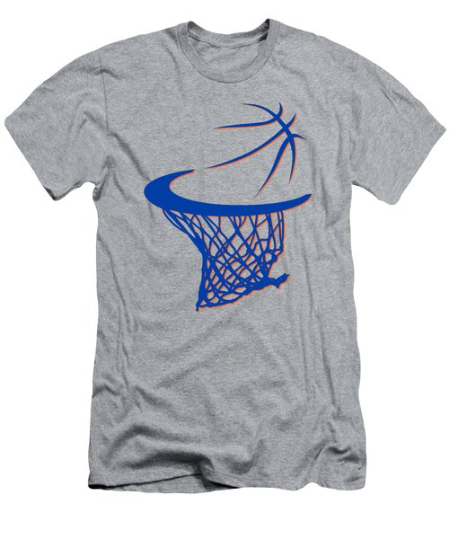 Knicks Basketball Hoop Men's T-Shirt (Athletic Fit)