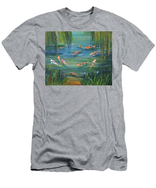 Koi In The  Willows Men's T-Shirt (Athletic Fit)
