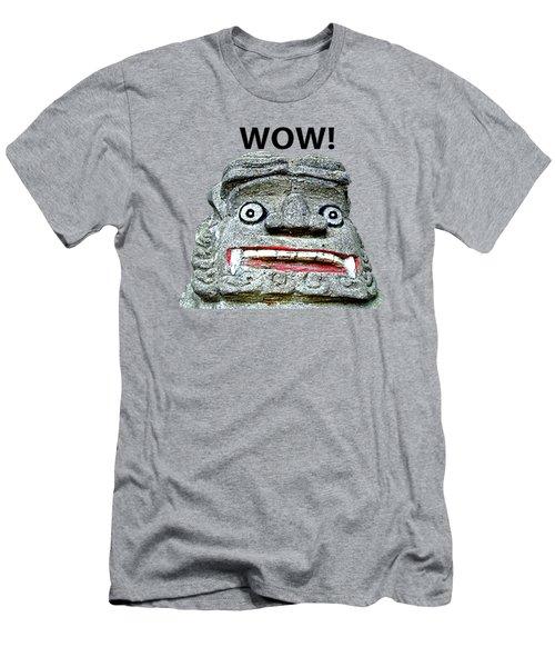 Men's T-Shirt (Athletic Fit) featuring the mixed media Komainu23 by Yoshimitsu Takuki
