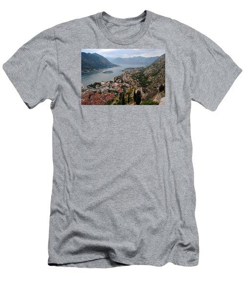 Kotor Bay Men's T-Shirt (Slim Fit) by Robert Moss