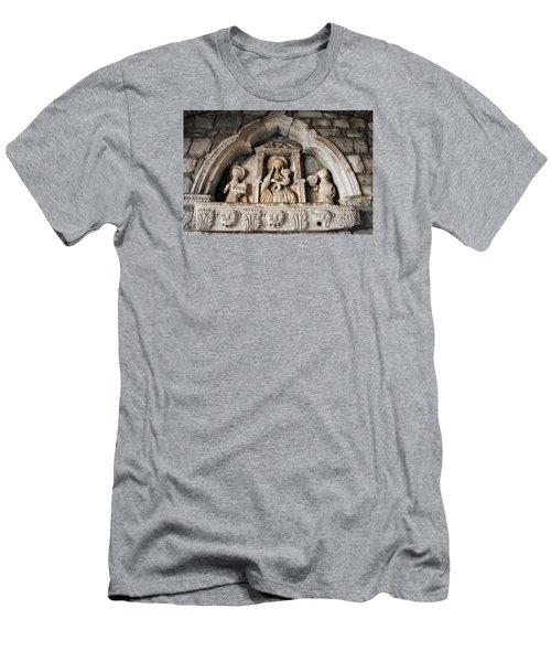 Kotor Wall Engraving Men's T-Shirt (Slim Fit) by Robert Moss