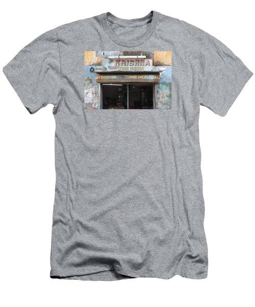 Krishna Time House Men's T-Shirt (Slim Fit) by Jennifer Mazzucco