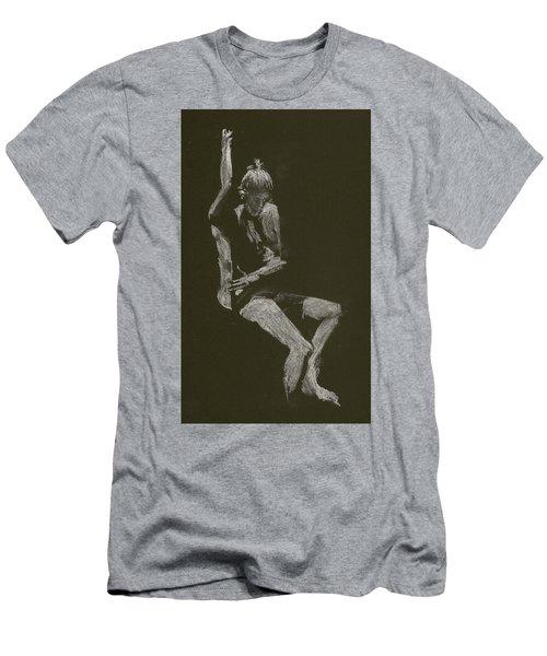 Kroki 2014 10 04_12 Figure Drawing White Chalk Men's T-Shirt (Athletic Fit)