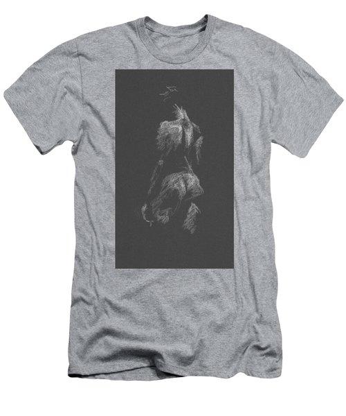 Kroki 2015 09 26 _3 Figure Drawing White Chalk Men's T-Shirt (Athletic Fit)