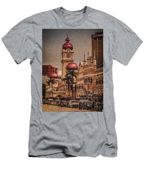 Kuala Lumpur, Malaysia - Red Onion Domes Men's T-Shirt (Athletic Fit)