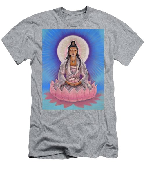 Kuan Yin Men's T-Shirt (Athletic Fit)
