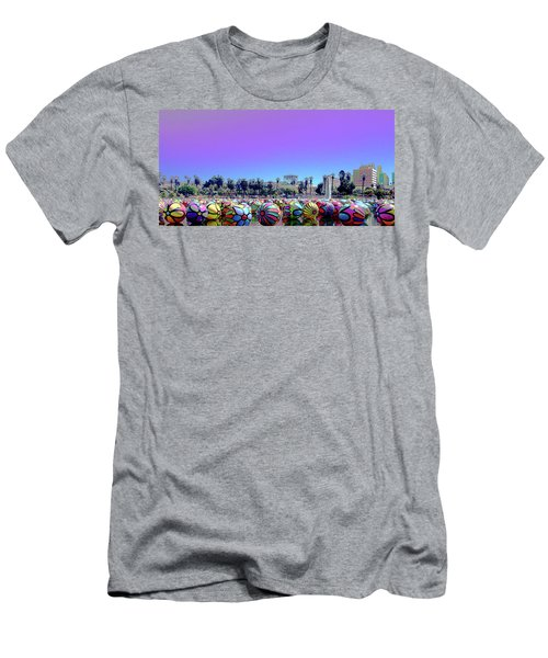 Men's T-Shirt (Athletic Fit) featuring the photograph Los Angeles Glows In The Spheres Of Macarthur Park by Lorraine Devon Wilke