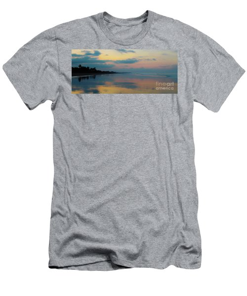 la Casita Playa Hermosa Puntarenas - Sunrise One - Painted Beach Costa Rica Panorama Men's T-Shirt (Athletic Fit)