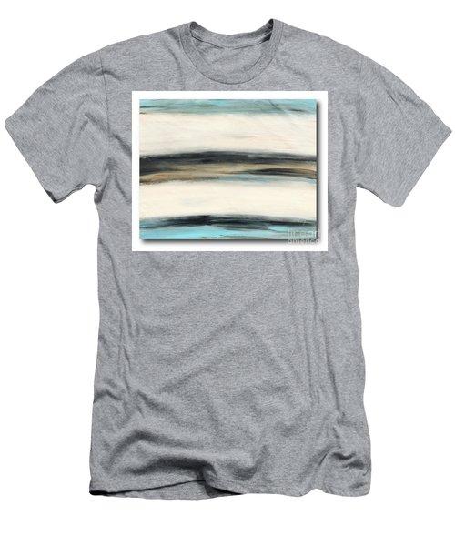 La Jolla #3 Seascape Landscape Original Fine Art Acrylic On Canvas Men's T-Shirt (Athletic Fit)
