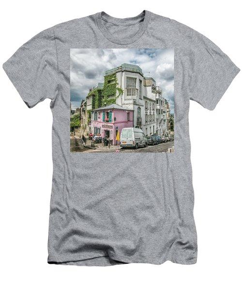 Men's T-Shirt (Slim Fit) featuring the photograph La Maison Rose by Alan Toepfer