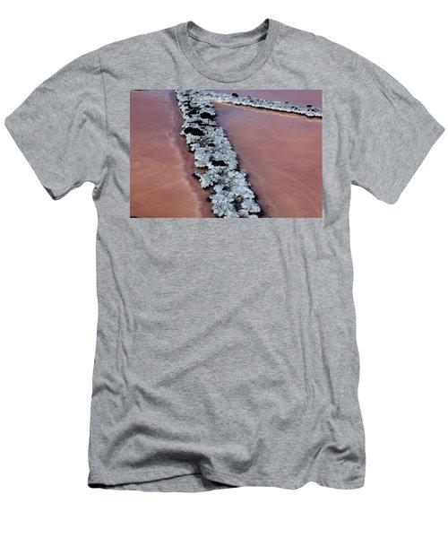 La Palma, Canary Island, Red Algae, Dunaliella Salina In The Crystallization Basin Men's T-Shirt (Athletic Fit)