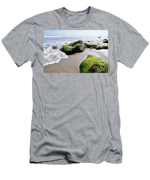 Men's T-Shirt (Slim Fit) featuring the photograph La Piedra Shore Malibu by Kyle Hanson