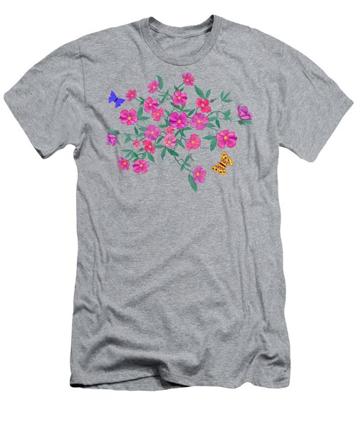 La Vie En Rose Design Men's T-Shirt (Slim Fit) by Teresa Ascone