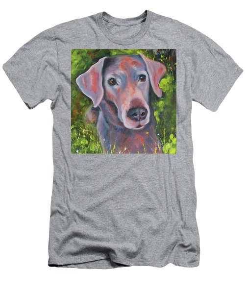 Lab In The Grass Men's T-Shirt (Athletic Fit)